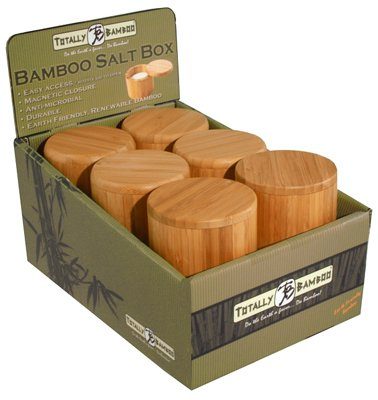 Price comparison product image Totally Bamboo 20-2083 Round Salt Box With Magnetic Lid