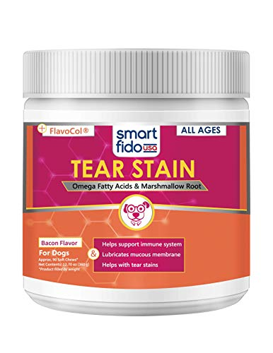 Smart Fido Tear Stain Support 90 Ct Soft Chews for Dogs