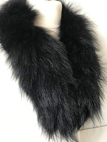 Scarf Ribbon of fox fur Trim hood collar cuff from RizhikOva
