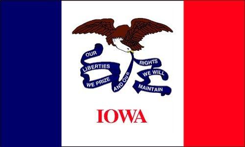 Iowa Flag 4 x 6 Feet Nylon - Outdoor