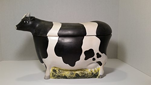 Sakura Warren Kimble Cow Cookie Jar