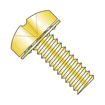 Carton: 6,000 pcs 10-32 x 3//8 SEMS Screws//Internal Tooth Washer//Phillips//Pan Head//Steel//Zinc
