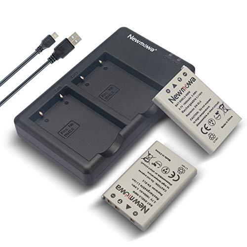 Newmowa EN-EL5 Replacment Battery (2-Pack) and Dual USB Charger kit for Nikon Coolpix 3700, 4200, 5200, 5900, 7900, P3, P4, P80, P90, P100, P500, P510, P520, P530, P5000, P5100, P6000, S10 Cameras (P500 Charger Coolpix Nikon)