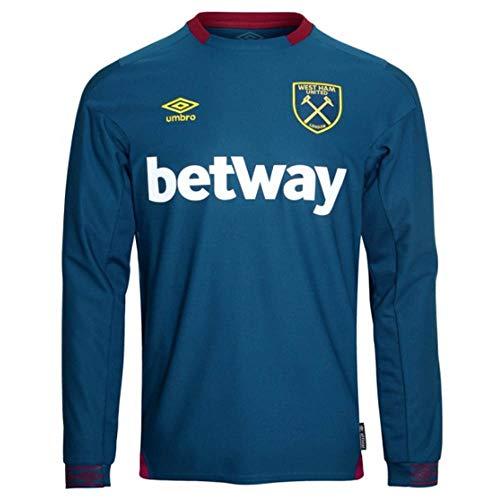 Umbro 2018-2019 West Ham Long Sleeve Away Football Soccer T-Shirt - Umbro Sleeve Long