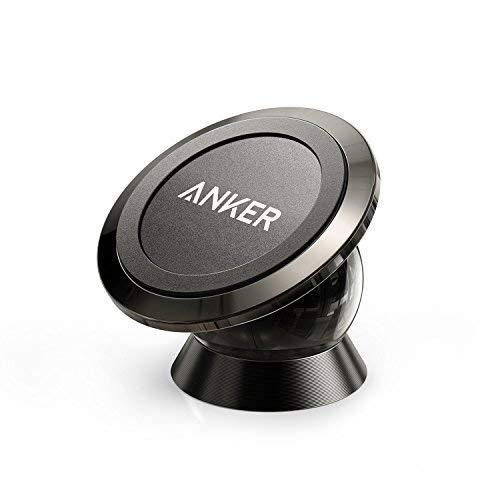 Anker Universal Magnetic Car Mount - Ultra-Compact 360° Rotation Phone Holder Dashboard Mount for iPhone X / 8/8 Plus / 7/7 Plus / 6s / Pixel 2 / Galaxy S8 / S7 / S6 / Light Tablets and More