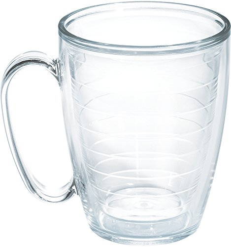 Tervis 1049866 Clear & Colorful Insulated Tumbler, 16 oz Mug Tritan, Clear