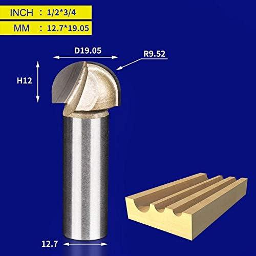 NO LOGO 1pc Holzbe- Round Cove Bit Wolframkarbid Professional Grade Fräser for Holz 1/2 1/4 Zoll Schaftfräser (Größe : Y00110)