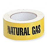 Roll of Natural Gas Pipe Marker,135 Labels in a roll, With liner, Self adhesive stickers you peel and stick, 8'' perforated, 2'' x 8'' wide, Good for gas inspection