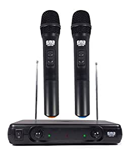 emb pro ebm10w professional dual vhf wireless handheld microphone system musical. Black Bedroom Furniture Sets. Home Design Ideas