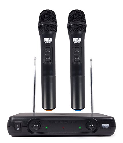 EMB Pro EBM10W Professional Dual VHF Wireless Handheld Microphone (Professional Vhf Wireless Headset Microphone)