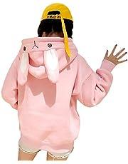 CRB Fashion Cosplay Anime Bunny Emo Girls Cat Bear Ears Emo Bear Top Shirt Pullover Sweater Hoodie