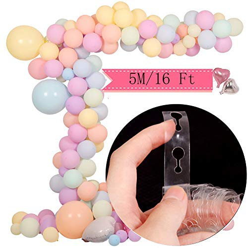 5M Transparent Balloon Chain Connect Strip with Holes Arch Strip Kit Arch Garland Decorating for Party Wedding Birthday Xmas Baby Shower DIY (Plastic Transparent Tape)