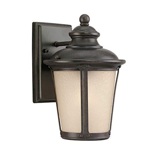 Sea Gull Lighting 8824091S-780 LED 8824091S-780-LED Outdoor Wall Lantern, Burled Iron