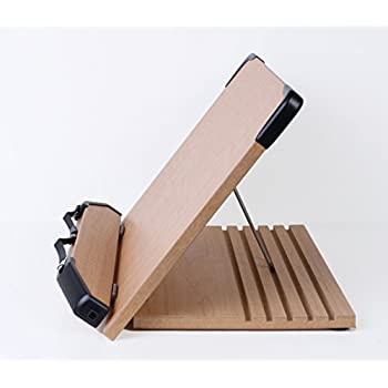 A+ Book Stand BS1500 Book Holder w/Adjustable Foldable Tray and Page Paper Clips-Cookbook Reading Desk Portable Sturdy Lightweight Bookstand-Textbooks Bookstands-Music Books Tablet Cook Recipe Stands