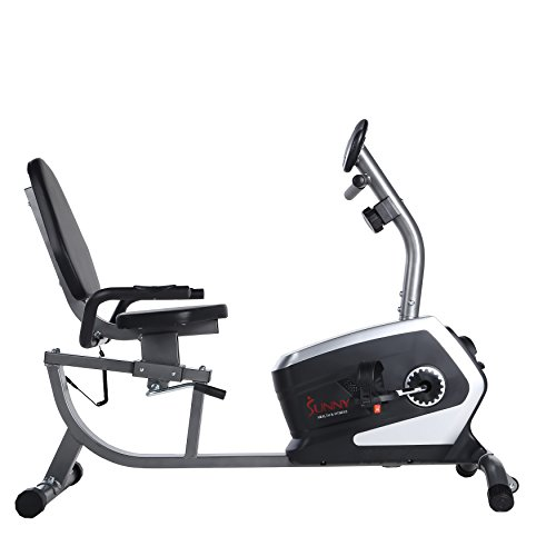 Sunny Health & Fitness Magnetic Recumbent Bike Exercise Bike, 300lb Capacity, Easy Adjustable Seat, Monitor, Pulse Rate Monitoring - SF-RB4616 by Sunny Health & Fitness (Image #3)