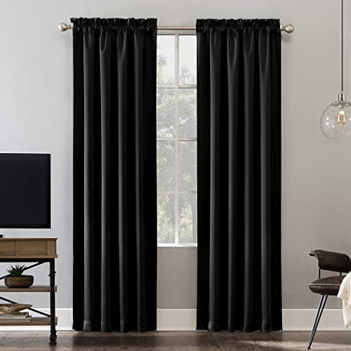 Sun Zero Oslo Theater Grade Extreme 100% Blackout Rod Pocket Curtain Panel, 52
