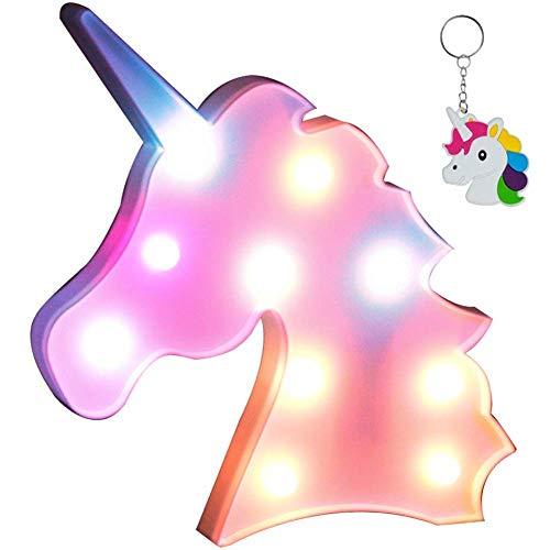 AIZESI Colorful Unicorn Light,Neon Unicorn Marquee Sign,Unicorn Lamp Party Supplies,Unicorn LED Night Light Wall Decoration Room Decor for Little Girls,Living Room,Bedroom as Kids Gifts(Unicorn Pink)