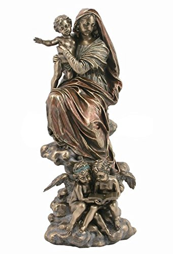 - XoticBrands Decorative 12.8 Inch Madonna of The Harpies Sculpture Statue Figurine, ((H) 12 3/4 Bronze