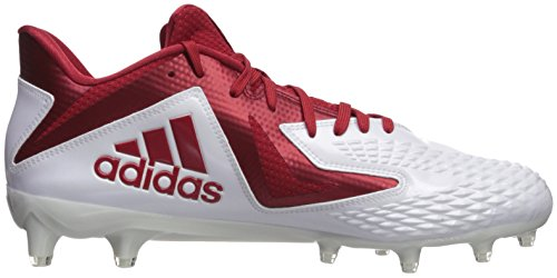 sale retailer 6ec33 5d8a2 ... Adidas Heren Freak X Carbon Mid Voetbalschoen Wit  Power Rood  Wit