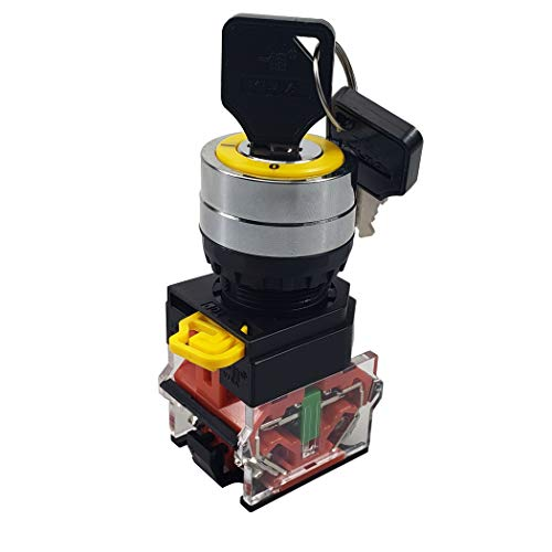 API-ELE [3 Years Warranty] 22mm Key Switch 440V 10A 1NO1NC Maintained (2 position, Latching) (Off Switch On Keyed)