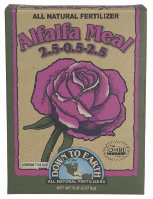 Down to Earth Organic Alfalfa Meal Fertilizer Mix 2.5-0.5-2.5, 5 lb
