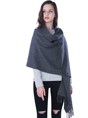 Cashmere 4 U Women's 100% Cashmere Wrap for Travel Shawl Stole - Extra Large Scarf for Winter