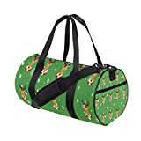 Sport Gym Bag Christmas Reindeer Pattern Duffel Bag for Men and Women Travel
