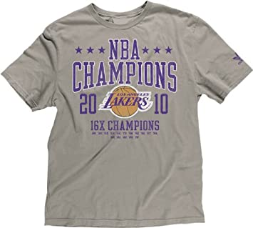 Adidas Los Angeles Lakers 2010 NBA Champions Recognition Distressed Soft T-shirt camisa: Amazon.es: Deportes y aire libre