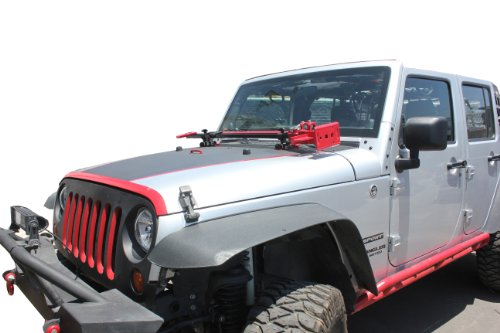 Jeep Wrangler 07-13 Jk Hood Hinge Hi-lift Farm Jack Mount & Jack Handle Strap