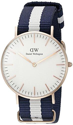 Daniel-Wellington-0503DW-Reloj-con-correa-de-acero-para-mujer-color-blanco-gris