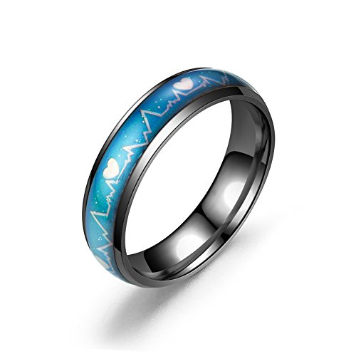 Ello Elli 6MM Stainless Steel Color Changing Mood Ring