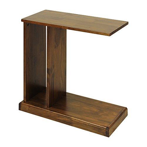 Casual Home C-Shape End Table with Solid Wood