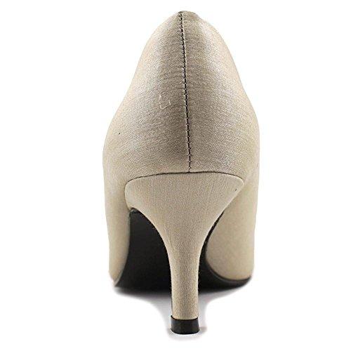 Caparros Femmes Apprécier Peep Toe Pompes Classiques Nude Shimmer
