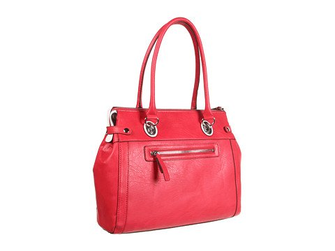 GUESS Love Lock Satchel Red Multi by GUESS (Image #3)