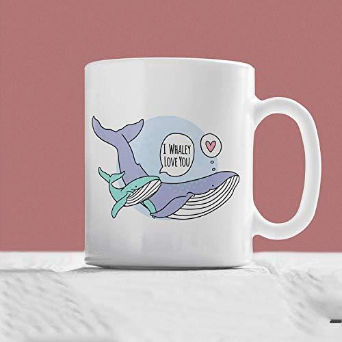 I Whaley Love You Whale Mug Hand Illustrated Mug Cute Mug Whale Gift Love Mug Love Gift Animal Mug Sea Mug Animal Gift Pun Mug ()