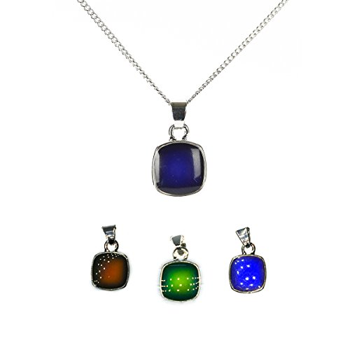 MeliMe Mermaid Necklace Color Changed Mood Necklace for Women Girls (Blue stone) (Mood Stone Necklace)