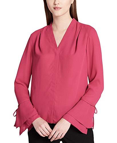 Calvin Klein Women's Bell-Sleeve Top Vivacious XL ()