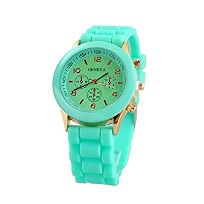 PromiseU Women's Silicone Band Jelly Gel Quartz Wrist Watch
