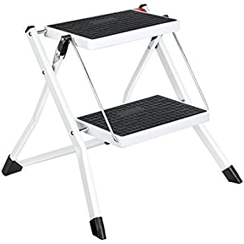 Amazon Com Delxo Step Stool Stepladders Lightweight White
