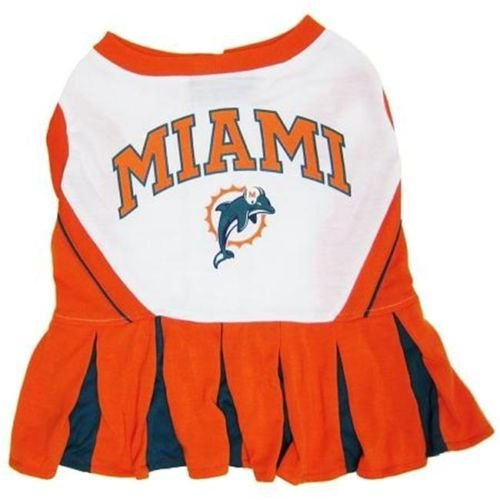 [MIAMI DOLPHINS CHEERLEADER DOG DRESS OUTFIT ALL SIZES LICENSED NFL (Medium)] (Miami Dolphins Cheerleader Costumes)