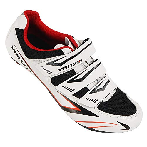 Venzo Road Bike for Shimano SPD SL Look Cycling Bicycle Shoes 44 ()