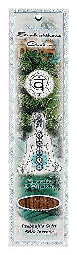 UPC 809581213522, Prabhuji's Gifts-stick Incense- Svadhisthana Chakra-vanilla, Rose& Vetiver