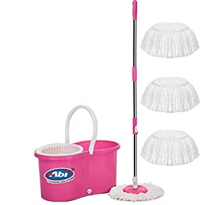 ABI CLEANING SOLUTIONS Mop Floor Cleaner with Bucket Set Offer with Big Wheels for Best 360 Degree Easy Magic Cleaning…