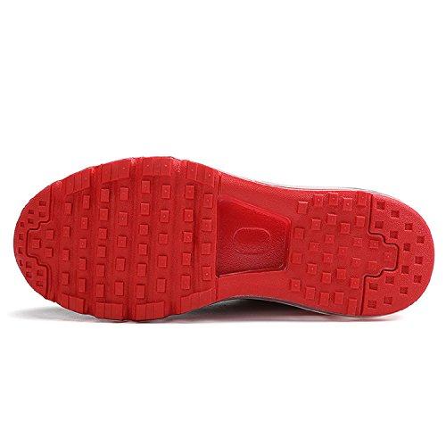 Running Femme Sport Basses Noir Sneakers Rouge Tqgold Fitness Basket Homme Chaussure De Course wxRwaZqfY