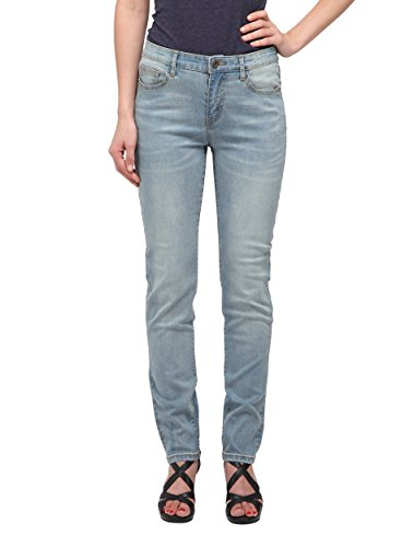 Allée Jeans, Women's Light Blue Mid-Rise Straight Jeans (Souci) (29)