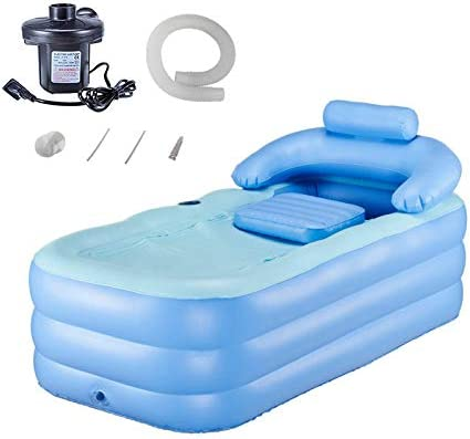 Tech-L Inflatable Bath Tub Plastic Portable Foldable Bathtub Soaking Bathtub Home SPA Bath Equip