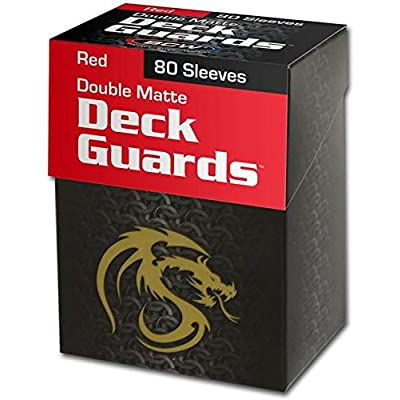 (1) Red BCW Deck Guard Pack - Trading Card Sleeves - 80 Sleeves per Pack - BCW-DGM80-RED: Toys & Games