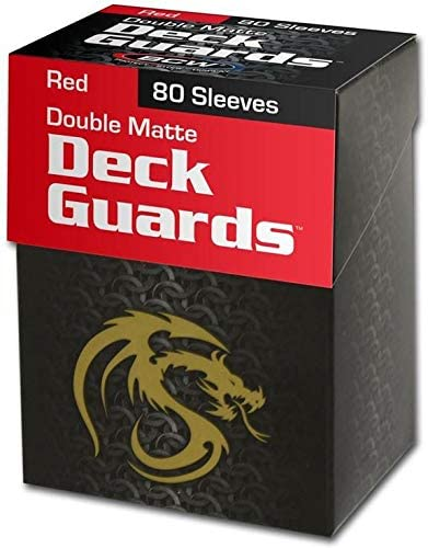 Red BCW Deck Guard Pack 1 80 Sleeves per Pack Trading Card Sleeves BCW-DGM80-RED
