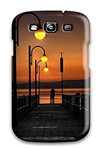 Richard V. Leslie's Shop standing on the pier at sunset Photography Art Personalized Samsung Galaxy S3 cases