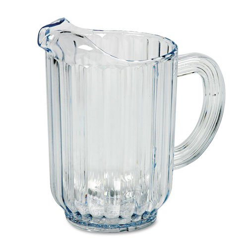(Rubbermaid® Commercial - Bouncer Plastic Pitcher, 60-oz., Clear - Sold As 1 Each - Designed for safety and lower replacement costs.)